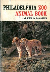 Philadelphia Zoo Zoo Animal Book and Guide to the Garden, 1. Aufl. (Tiger) rote Schrift