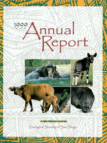 San Diego Zoological Society Annual report 1999