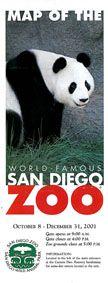 San Diego Zoo Kurzinfo mit großem Lageplan (Panda)