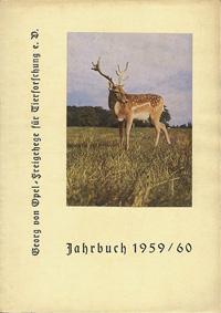 Kronberg (Opel-Zoo Taunus) Jahrbuch 1959/60