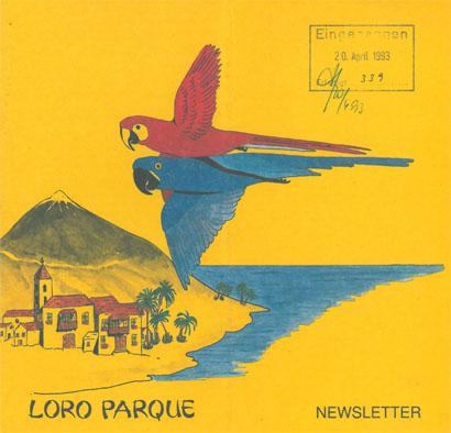 Loro Parque Puerto de la Cruz, Teneriffa Newsletter Mrz 93