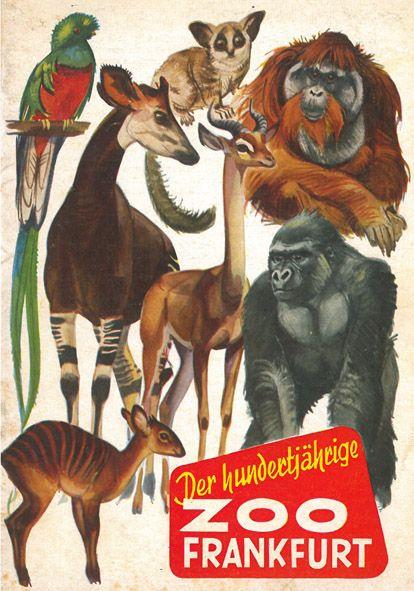 Zoo Frankfurt Wegweiser (100 Jahre)