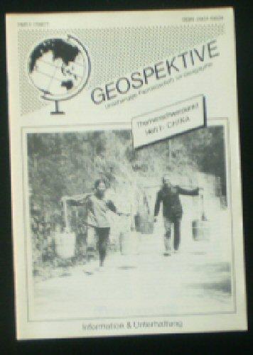 Faber, Thomas F (Ed.) Geospektive, Unabhängige Fachzeitschrift für Geographie, Heft 1 (1987) 1. Jahrgang