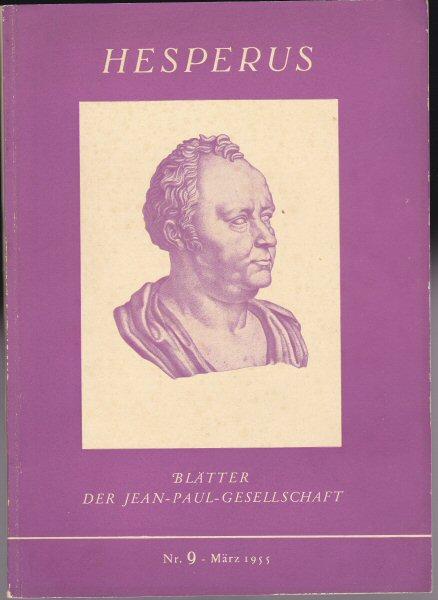 Langenmaier, Theodor (Ed.) Hesperus, Blätter der Jean-Paul-Gesellschaft, Nr. 9 März 1955