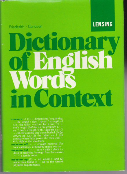 Wolf, Friederih & Canavan, John Dictionary of English Words in Context