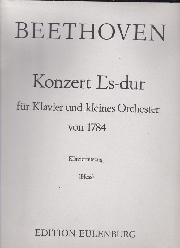 Beethoven, Ludwig van Konzert Es-dur (Klavierauszug) für Klavier und kleines Orchester von 1784