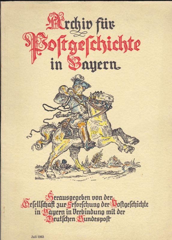 Hartmann, Heinrich (Ed.) Archiv für Postgeschichte in Bayern