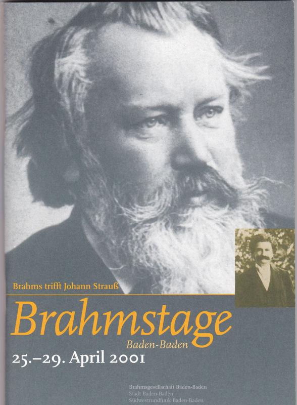 Brahmsgesellschaft Baden-Baden 18. Brahmstage Baden-Baden. Brahms trifft Johann Strauß