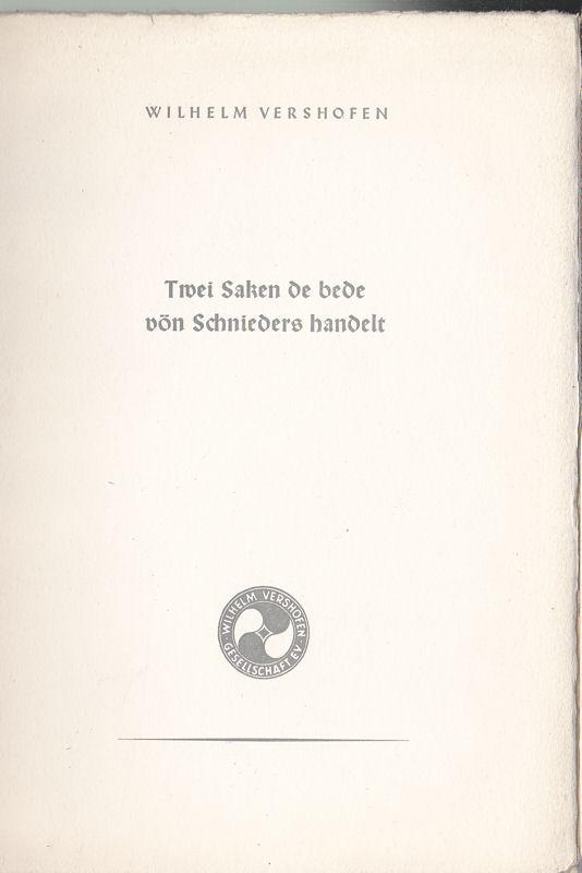 Vershofen, Wilhelm Das Wiedersehen