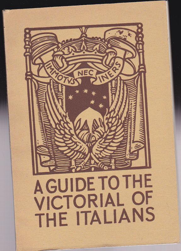 Bruers, Antonio The Victorials of the Italians. Brief Guide