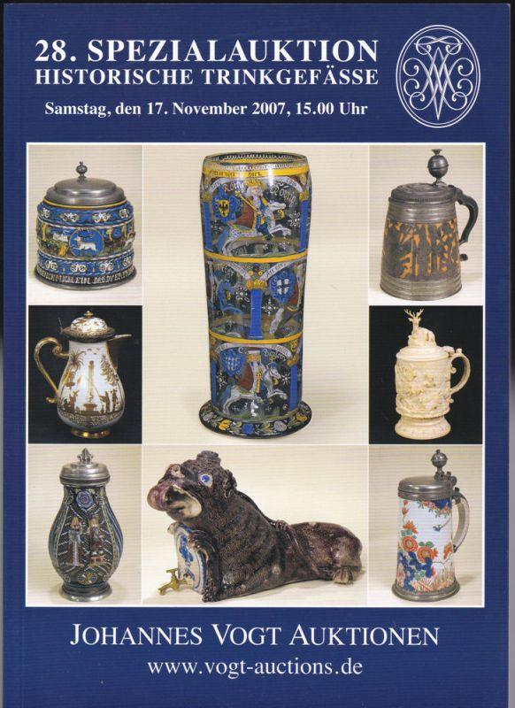 Johannes Vogt Auktionen (Hrsg) Auktionskatalog: 28. Spezialauktion Historische Trinkgefässe
