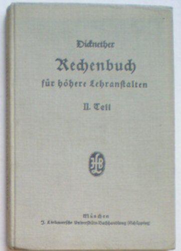 Wildenrother, J Dicknether's Rechenbuch für höhere Lehranstalten - II. Teil