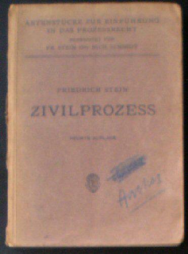 Stein, Friedrich Zivilprozess