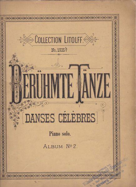 Telham, Richard (Ed.) Berühmte Tänze (Danses Celebres) Piano solo Album No. 2