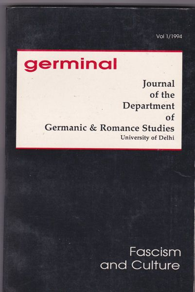 Mazumdar, Shaswati (Ed.) Germinal Vol 1 / 1994, Facism and Culture