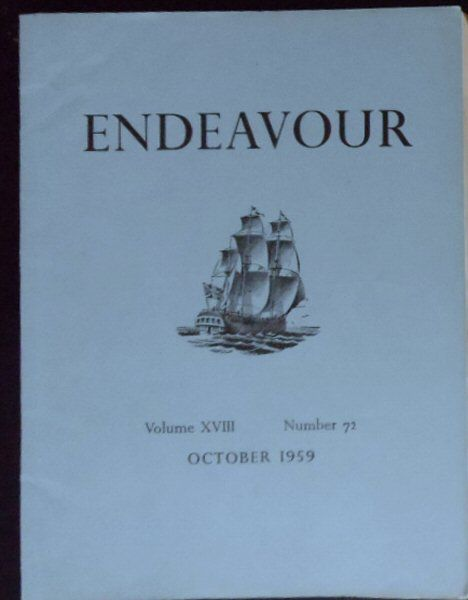 Williams, Trevor (Ed.) Endeavour Vol. 18 No. 72 October 1959