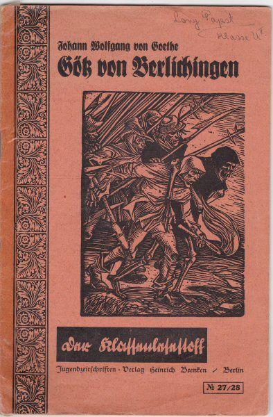 Goethe, Johann Wolfgang von Götz von Belichingen