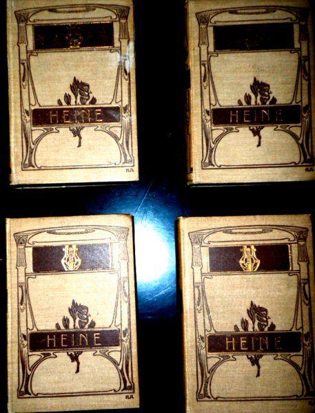 Heine, Heinrich Heine's Werke Bücher 1-12 (in 4 Bände)