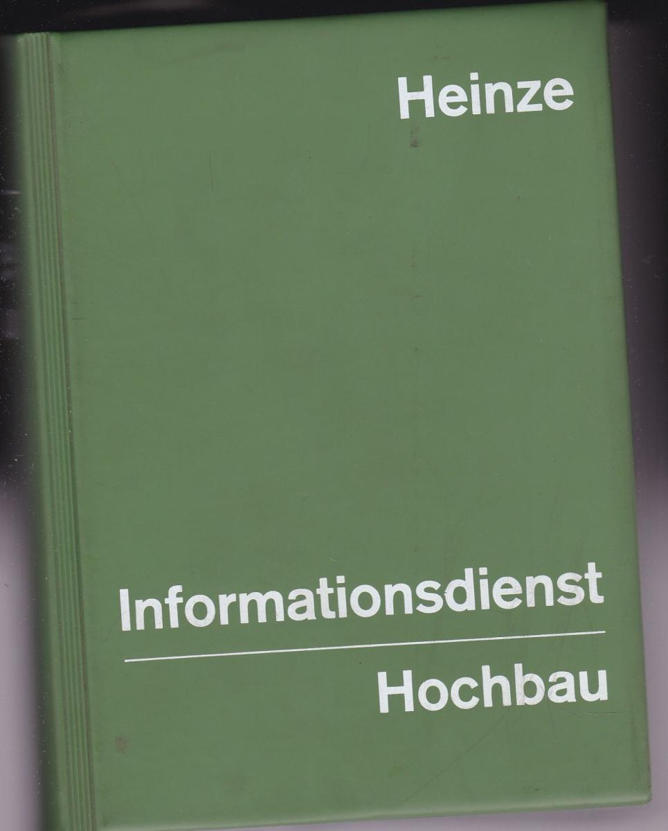 Wolf, Jürgen (Ed.) Heinze Informationsdienst, Hochbau 1973
