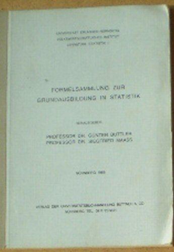 Buttler, Günter & Maass, Siegfried (Hrsg.) Formelsammlung zur Grundausbildung in Statistik