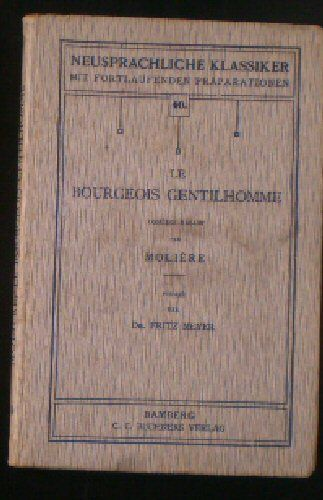 Moliere Le bourgeois Gentilhomme