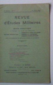 Sauliol, Rene (Ed.) Revue d'Etudes Militaires, Revue Didactique, 8 e Annee, No. 3, 1 Juin 1920