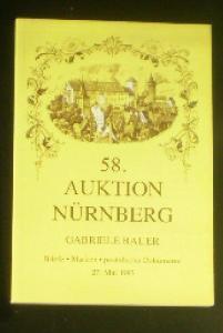 58. Auktion Nürnberg, Gabriele Bauer, Briefe, Marken, postalische Dokumente, 17. Mai 1995