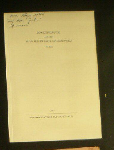 Herrmann, Erwin Zur Schriftentwicklung in Oberfranken