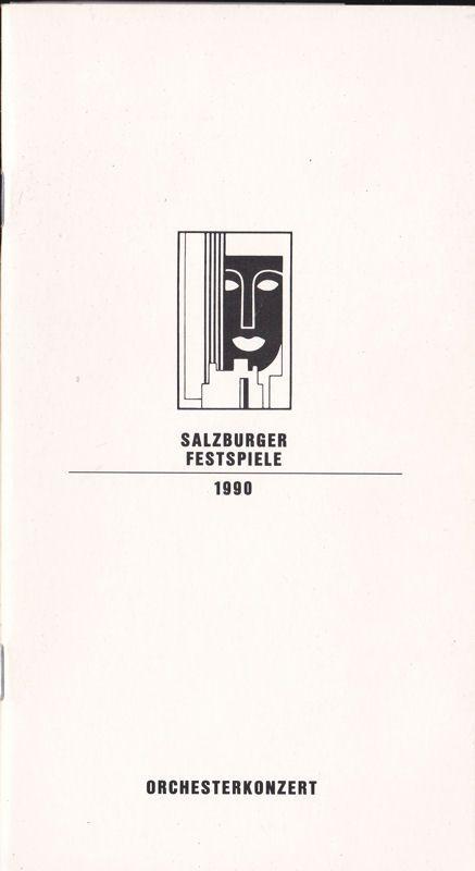 Willnauer, Franz (Ed.) Salzburger Festspiele 1990, Orchesterkonzert