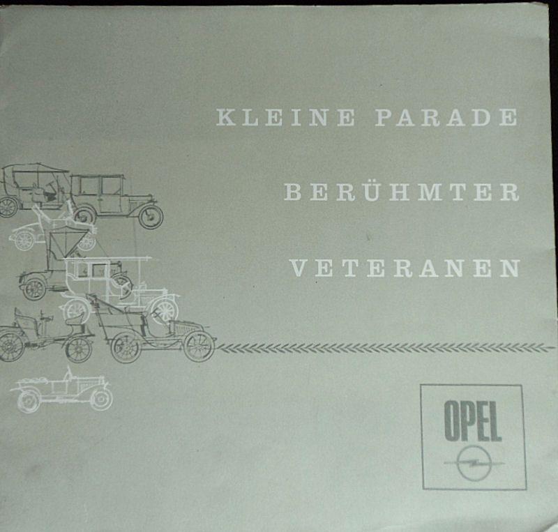 Opel Kleine Parade berühmte Veteranen