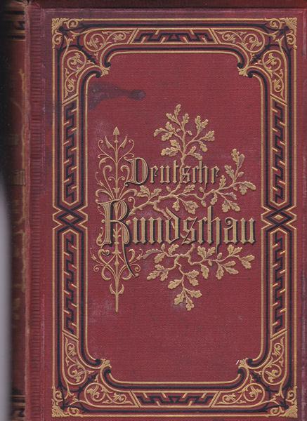 Rodenberg, Julius (Hrsg.) Deutsche Rundschau Band 74, Januar-März 1893