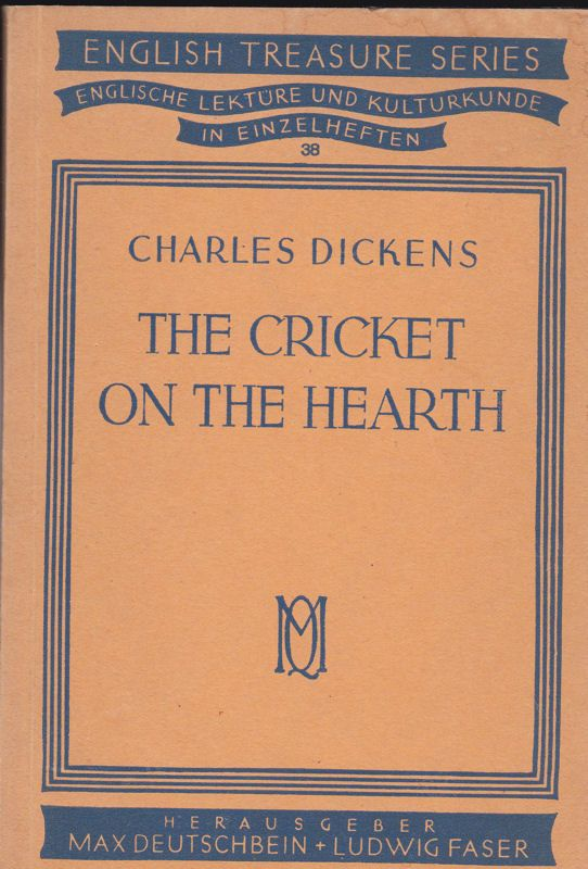 Dickens, Charles The Cricket on the Heath, A Fairy Tale of Home