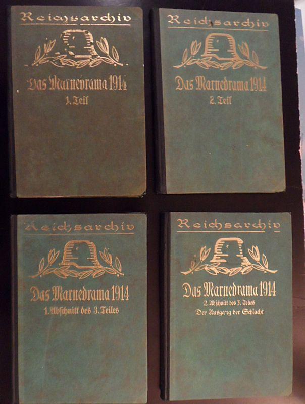Bose, Thilo von Das Marnedrama 1914 Teil 1 bis 3 (Teil 3 mit 2 Abteilungen)