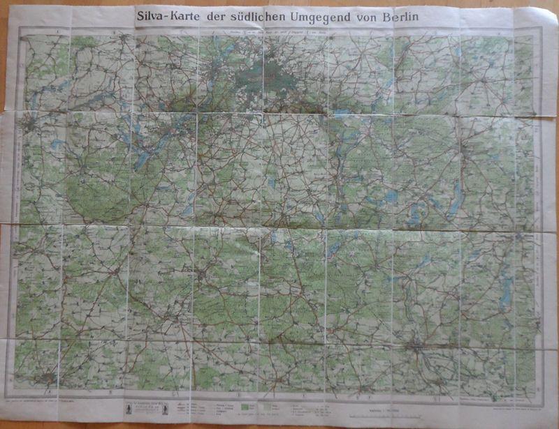 Silva Verlag Silva-Karte der südlichen Umgebung von Berlin