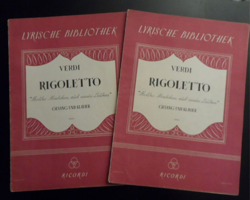 Verdi, Giuseppe Riggoletto Gesang und Klavier, Holdes Mädchen, sieh' mein Leiden