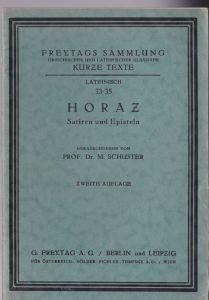 Horaz Satiren und Episteln