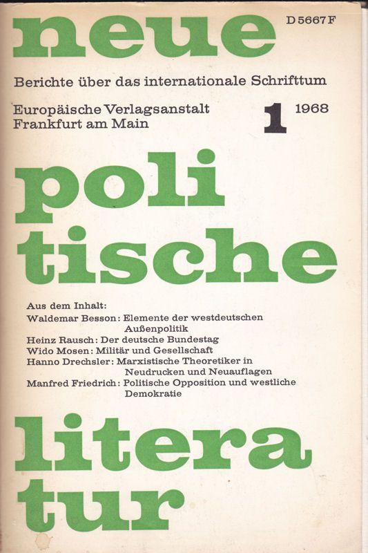 Viefhaus, Erwin (Ed.) Neue Politische Literratur Heft 1 1968, 13. Jahrgang, Berichte über das internationale Schrifttum