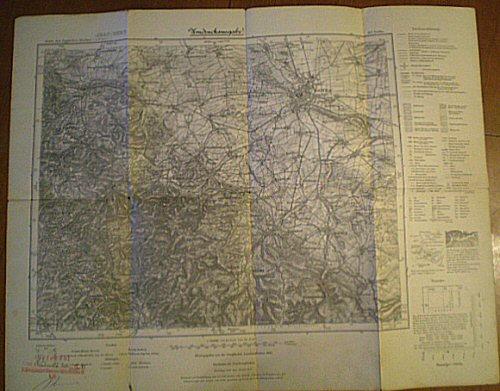 Preuß. Landesaufnahme 1909 (Berichtigt 1929, einz. Nachtr. 1936) Karte des deutschen Reiches, Landkarte 437 Gotha