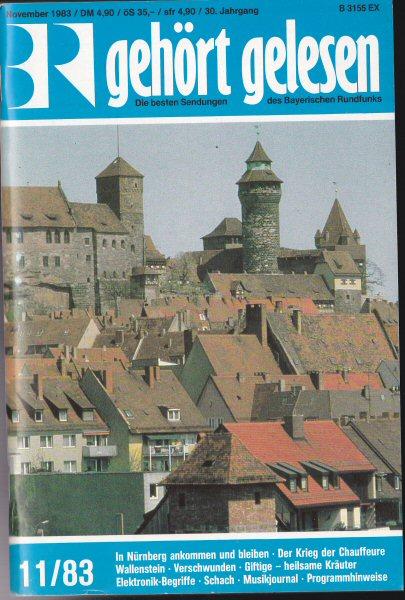 Bayerischer Rundfunk (Hrsg.) Gehört, gelesen, Die besten Sendungen des Bayerischen Rundfunks, November 1983 (30.Jahrgang)
