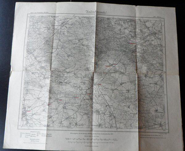 Preuß. Landesaufnahme 1909 (Berichtigt 1929, einz. Nachtr. 1936) Karte des deutschen Reiches, Landkarte 365. Düben