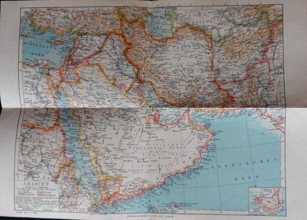 Bibliograph. Institut Karte von Arabien. Maßstab 1: 15.000.000