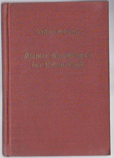 Schurig, Arthur Kleiner Katechismus der Lebenskunst