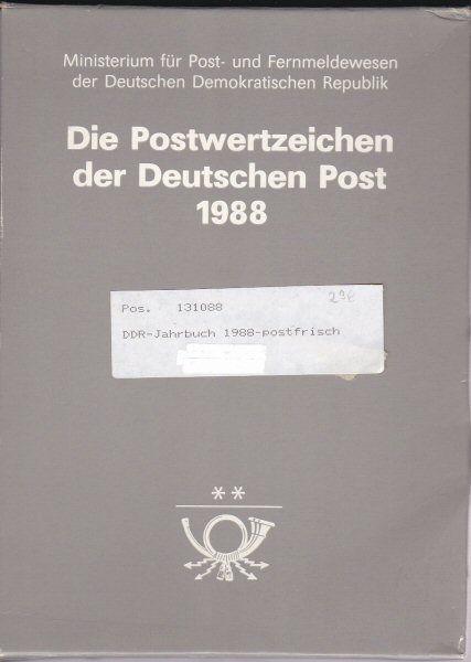 Ministerium für Post- und Fernmeldewesen der Deutschen Demokratischen Republik Die Postwertzeichen der Deutschen Post 1988