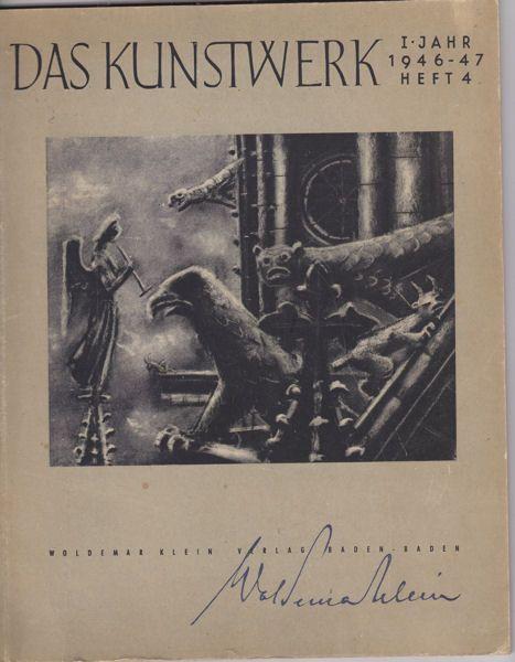 Reindl, L.E. und Zahn, Leopold (Schriftleitung) Das Kunsthandwerk. 1946-47 Heft 4