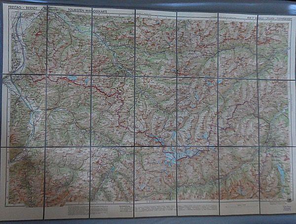 G. Freytag & Berndt Freytag -Berndt Touristen-Wanderkarte Blatt 37 Rätikon- Silvretta - Verwallgruppe 1: 100.000
