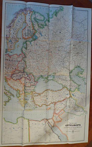 Gaeblers Geograph. Institut. GmbH. (Hrsg.) Eduard Gaeblers Karte von Osteuropa und der Länder am östlichen Mittelmeer Maßstab 1: 5000.000