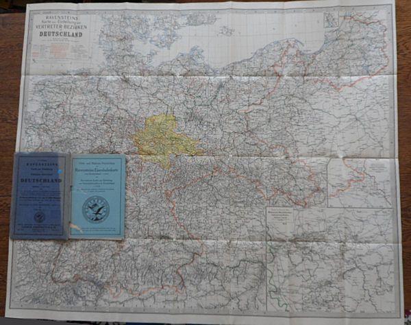 Ludwig Ravenstein A.G. (Hrsg.) Ravensteins Karte zur Einteilung von Vertreterbezirken in Deutschland