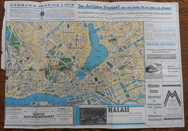 Plan von Hamburg