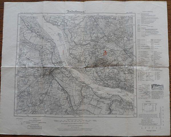 Reichsamt für Landesaufnahme Karte des Deutschen Reichs. Nr. 145 Stade Umdruckausgabe