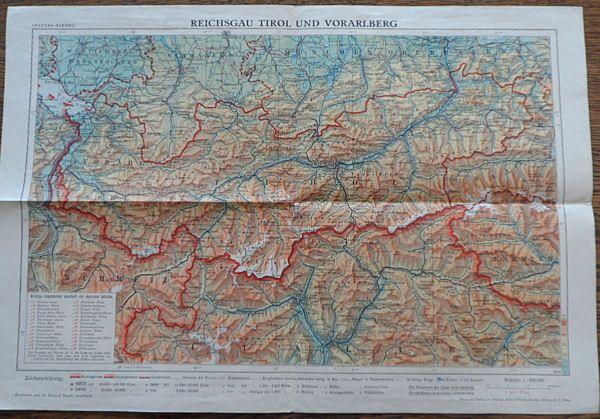 Freytag&Berndt (Hrsg.) Karte Reichsgau Tirol und Voralberg